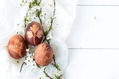 传统复活节彩蛋 免版税库存图片