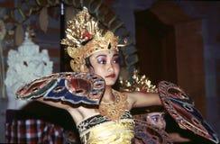 传统女性舞蹈家在Ubud,巴厘岛,印度尼西亚 库存照片