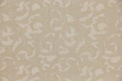 传统奶油色米黄颜色叶子金银细丝工的样式 免版税库存照片