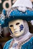 传统威尼斯式狂欢节面具 免版税库存照片