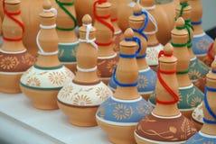 传统水贮存货柜a K A 在黏土做的马来语的Labu Sayong 免版税库存照片