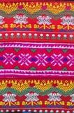 传统小山部落背景,泰国手工织品  免版税库存图片
