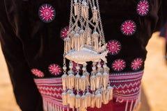 传统小山部落银装饰品 免版税库存照片