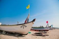 传统小船的goa 免版税库存图片