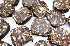 传统巧克力曲奇饼在10月 免版税库存照片