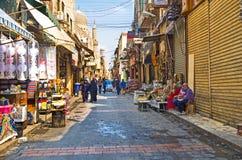 传统市场在开罗伊斯兰老城 图库摄影