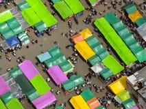 传统市场鸟瞰图  免版税图库摄影