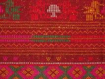 传统布料叫ulos batak 免版税库存图片