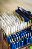 传统织布机,塑料织布机,编织的工具,传统wea 图库摄影