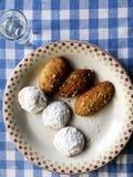 传统希腊圣诞节饼干 免版税库存照片
