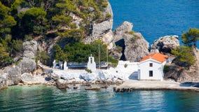 传统希腊大教堂 库存图片