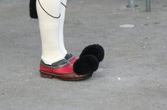 传统希腊战士鞋子 免版税库存图片