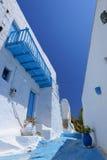 传统希腊村庄视图 免版税库存图片