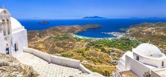 传统希腊海岛-塞里福斯岛 库存图片