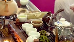 传统仪式中国的茶 股票视频
