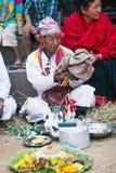 传统仪式,尼泊尔 库存图片