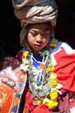 传统仪式,尼泊尔 免版税库存照片