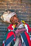 传统仪式,尼泊尔 免版税库存图片