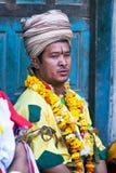 传统仪式,尼泊尔 图库摄影