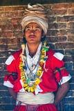传统仪式,尼泊尔 免版税图库摄影