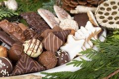 传统德国圣诞节曲奇饼 库存照片