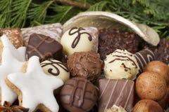 传统德国圣诞节曲奇饼 免版税库存照片