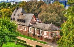 传统德国helf用木材建造的房子在科布伦茨 免版税图库摄影