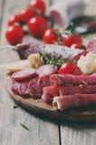 传统意大利开胃小菜 库存图片
