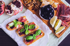 传统意大利开胃小菜 免版税库存照片