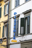 传统意大利比萨店在意大利 免版税图库摄影