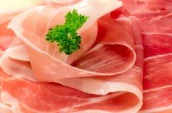 传统意大利火腿。 免版税库存图片