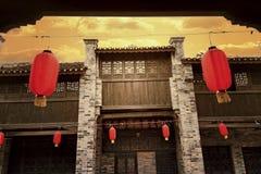 传统成为拱廊街道大厦, flok房子 库存照片
