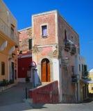 传统房子在文托泰内海岛 库存图片