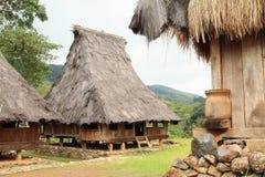 传统房子在露天博物馆在Wologai 库存图片