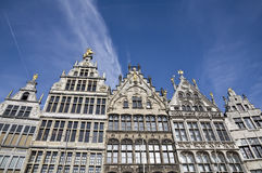 传统房子在Anwerp,比利时 免版税库存照片