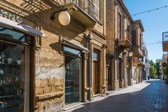 传统房子尼科西亚塞浦路斯 免版税图库摄影