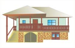 传统房子 免版税库存图片