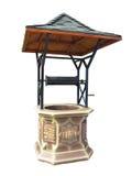 传统手工与金属屋顶水井isoalted在w 免版税图库摄影
