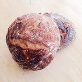传统手工的面包两个大面包  免版税库存照片