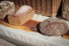 传统手工的面包 图库摄影
