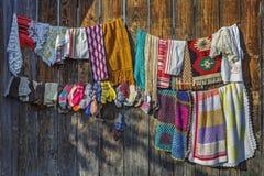 传统手工造钩针编织的织品 免版税库存图片