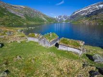 传统挪威小屋 库存照片