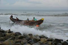 传统捕鱼 免版税库存图片