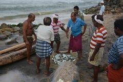 传统捕鱼 库存图片