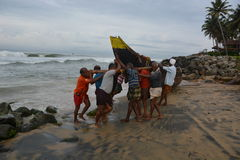 传统捕鱼 免版税图库摄影