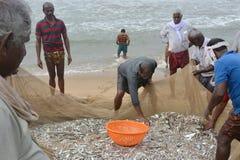 传统捕鱼 免版税库存照片