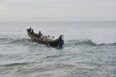 传统捕鱼 库存照片