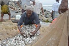 传统捕鱼 图库摄影