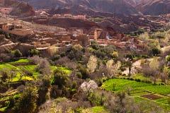 传统摩洛哥村庄 免版税图库摄影