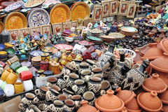 传统摩洛哥的瓦器 图库摄影